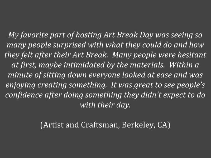 positiveimpactofartbreakday