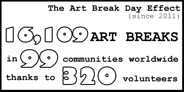 Statistics of Success for Art is Moving and Art Break Day