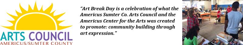 Art Break Day Banner for Americus, Georgia Location
