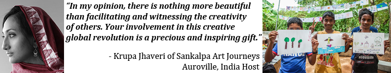 Art Break Day Banner for Auroville, India Site