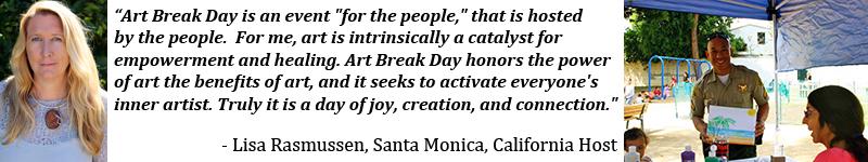 Art Break Day banner for Santa Monica California Location