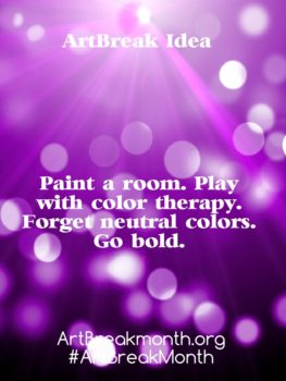 Art Break Idea. Paint a room.
