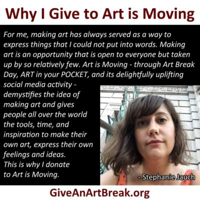 Contributor to Art is Moving offers her reasons for investing in the positive impact of art