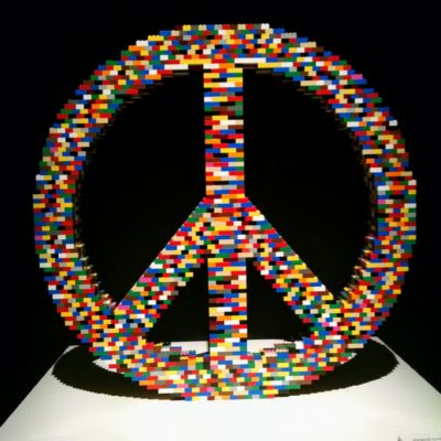 Lego Peace Sign created by Nathan Sawaya