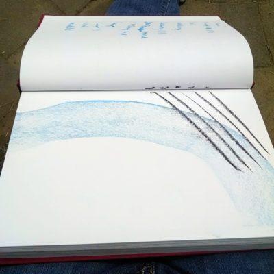 Sketchbook with pastels. Take an Art Break.