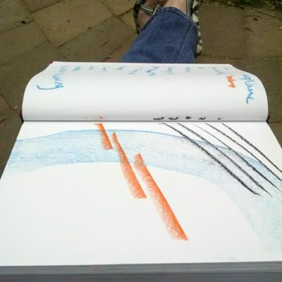Take an Art Break with pastels and an sketchbook