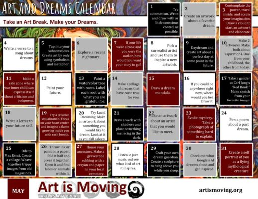Art and Dreams Calendar by Art is Moving